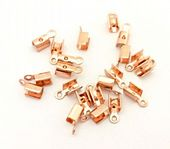 HALF PRICE! Rose Gold Colour Folding Cord Ends (Crimps) x 20